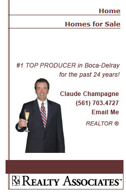 Claude Champagne, #1 Top Producer in Boca-Delray for Lang Realty.